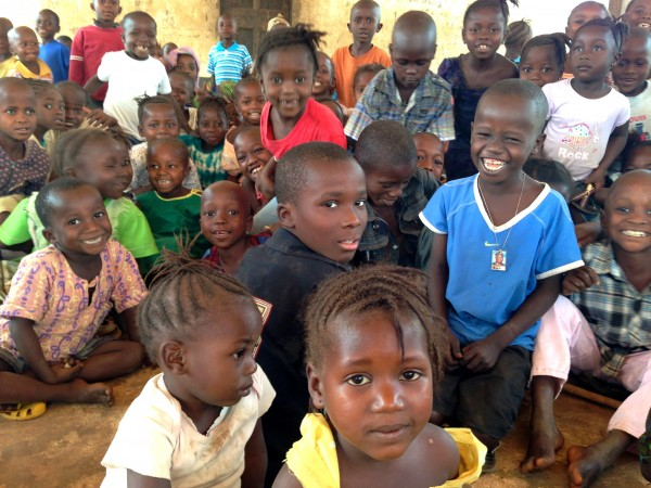 Young learners with our project partner Pikin to Pikin in Kailahun district, Sierra Leone.