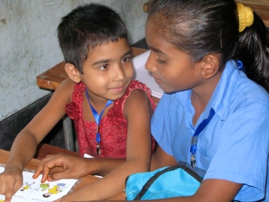 Two children from our Getting Ready for School pilot project in Bangladesh.