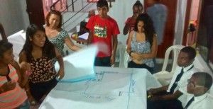 Young Afro-Peruvian people mapping their rights during a Child to Child workshop.