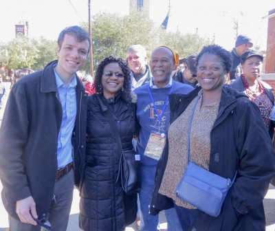 Marcellus Grace and his family during the celebrations of the Selma marches in March 2015.