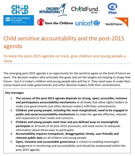 Child sensitive accountability