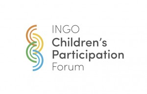 The new logo for the INGO Children's Participation Forum.