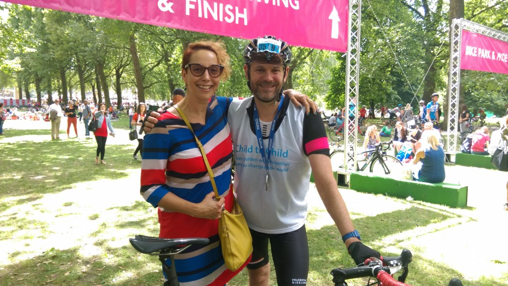 Fundraising cycling