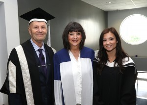 Gerison with Carleton University President Allistar Summerlee and Daniella Bendo